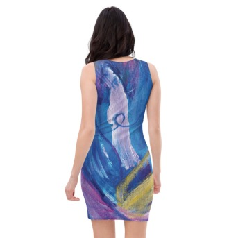 Cosmic Golden Buddha Back Fittedstretch dress