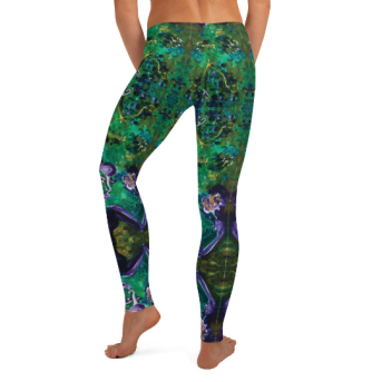 Elemental Fairy - Picasso fairy leggings back